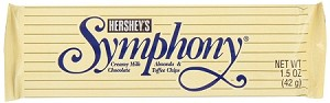 Hershey Symphony Almonds and Toffee Bar, (Pack of 36)