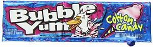 Bubble Yum Cotton Candy Bubble Gum, (Pack of 18)