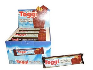Toggi Imported Chocolate Wafers, (Pack of 24)