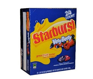 Starburst Very Berry Candy, (Pack of 24)