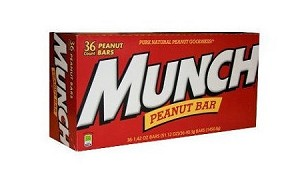 Snickers Munch Nut Candy Bars, (Pack of 36)