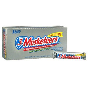 3 Musketeers Candy Bars, (Pack of 36)