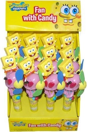 Sponge Bob Novelty Fan, (Pack of 24)