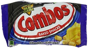 Combos Cheddar Cheese Cracker Snacks, (Pack of 18)