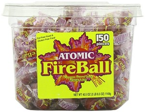 Atomic Fireballs Cinnamon Candy, (Pack of 150)