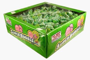 Super Bubble Bubble Gum Sour Apple Flavor, (Pack of 180)