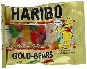 Haribo Gold Bears, 2 Ounce Bags, (Pack of 24)