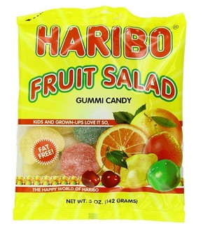 Haribo Fruit Salad, 5 Ounce Bags (Pack of 12)