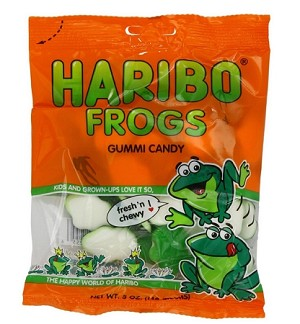 Haribo Gummy Frogs, 5 Ounce Bags (Pack of 12)