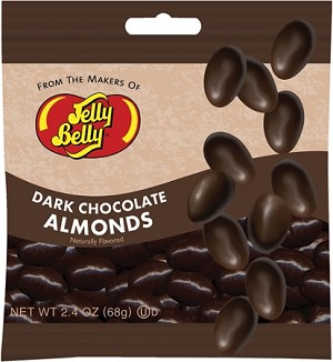 Jelly Belly Dark Chocolate Almonds, (Pack of 12)