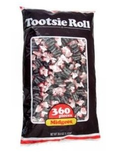 Tootsie Rolls Midgees, (Pack of 360)