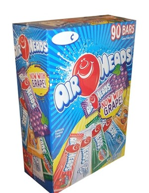 Airheads Taffy Variety Box, (Pack of 90)