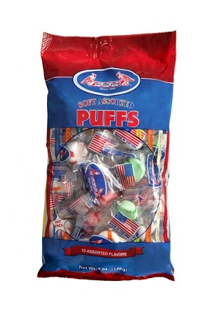 Red Bird Assorted Puffs, 6 Ounce Bags, (Pack of 12)
