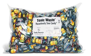Toxic Waste Candy, 1000 Count Bag