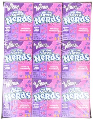 Wonka Nerds, Grape Strawberry, (Pack of 36)