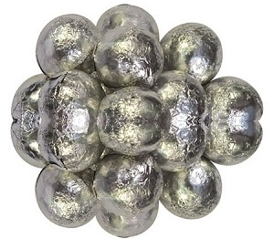 Milk Chocolate Silver Foil Wrapped Chocolate Balls, 10 Pounds