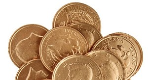 Milk Chocolate Gold Kennedy Coins, 6 Pounds