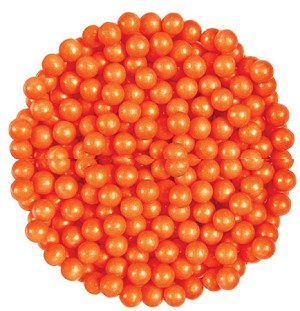 Oak Leaf Pearls Orange Candy, 10 Pounds