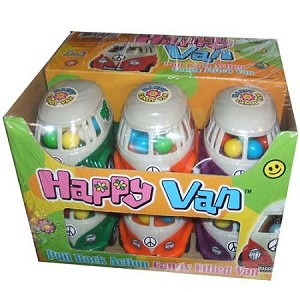 Happy Van Novelty Candy Toy, (Pack of 12)