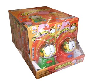 Bubble Mania Garfield Bubble Gum Dispenser, (Pack of 12)