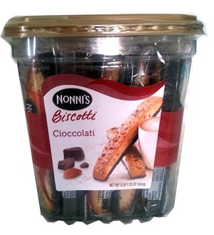 Nonnis Biscotti Cioccolati, (Pack of 25)
