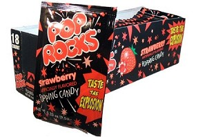 Pop Rocks Strawberry Popping Candy, (Pack of 24)