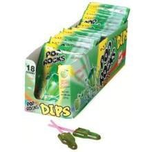 Pop Rocks Dips Apple Candy, (Pack of 18)