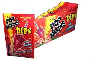 Pop Rocks Dips Strawberry Candy, (Pack of 18)