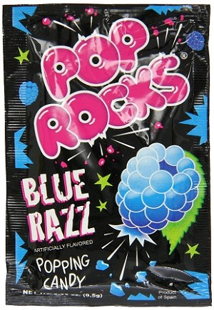 Pop Rocks Blue Razz Popping Candy, (Pack of 24)