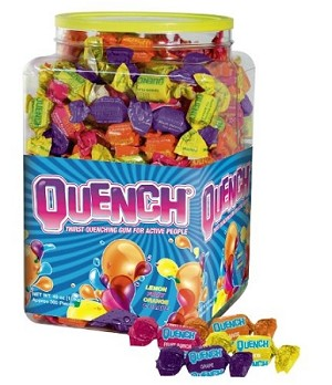 Quench Gum Assorted Tub Gum, (Pack of 300)