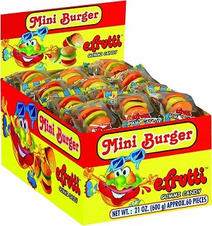 E-Frutti Gummy Burgers, (Pack of 60)