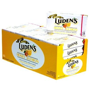 Ludens Honey Lemon Cough Drops, (Pack of 20)