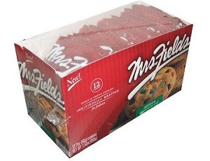 Mrs Fields Rainbow Chocolate Chip Cookies, (Pack of 12)