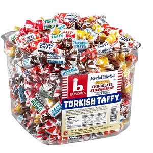 Bonomo Turkish Taffy (216 Piece Tub)