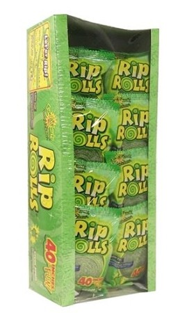 Sour Rip Rolls Apple, (Pack of 24)