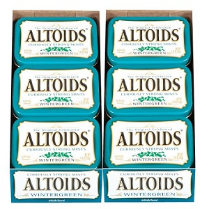 Altoids Wintergreen Mints, (Pack of 12)