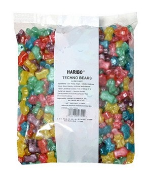 Haribo Techno Bears, 5 Pound Bag