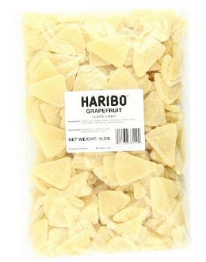 Haribo White Grapefruit, 5 Pound Bag
