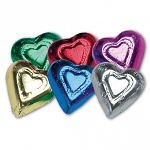 Rainbow Foil Wrapped Milk Chocolate Hearts, (5 Pounds)