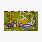 Candy Crush Sour Fruit Gummies Movie Theater Size Candy, (Pack of 12)