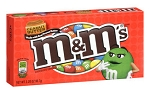 M & M Peanut Butter Movie Theater Size Candy, (Pack of 12)