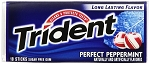 Trident Perfect Peppermint Gum, (Pack of 12)