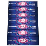 Bubblicious Blueberry, 5-Piece Packs (18 Pack)