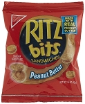 Ritz Bits Peanut Butter Crackers Single Serve Packs, (Pack of 12)