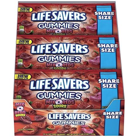 Lifesavers Gummies Mix O Reds Share Size Candy  Theonlinecandyshop.com  Buy Lifesavers Gummies