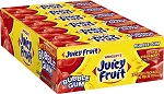 Juicy Fruit Strawberry Bubble Gum, (Pack of 18)