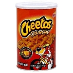 Cheetos Crunchy 4.25 Ounce Canisters, (Pack of 12)
