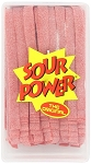 Sour Power Loose Strawberry Candy Belts, (Pack of 150)