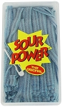 Sour Power Loose Blue Raspberry Candy Belts, (Pack of 150)