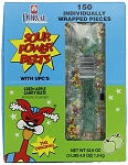 Sour Power Wrapped Green Apple Candy Belts, (Pack of 150)